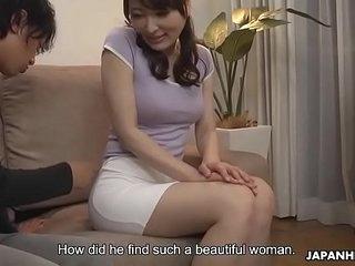 Japanese housewife, Noeru Mitsushima was mammal a autocratic slut, jam-packed