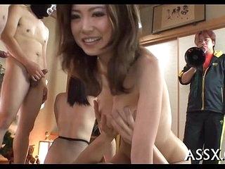 Yobbo japanese anal gangbang