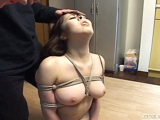Subtitled Japanese BDSM hot wax play with lustful bush-leaguer