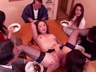 Asian japan gangbang group sex