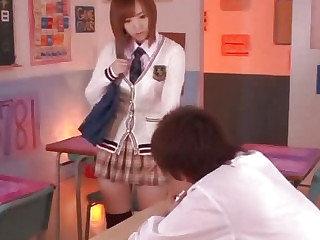 Teen Japanese cock kibitz and fucker