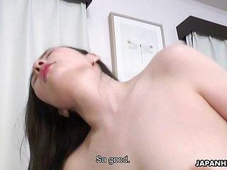 Japanese housewife, Ai Kamijou rides dick, uncensored