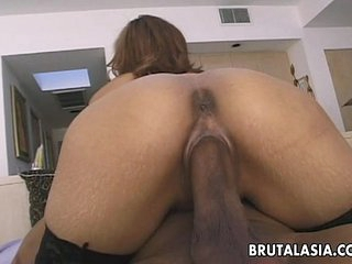 Adorable Japanese termagant loves steamy anal sex