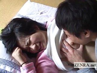 Innocent Japanese schoolgirl discouraged about English subtitles