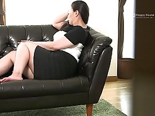 Japanese BBW Strips and Shows Her Fat Ass and Pair While Masturbating