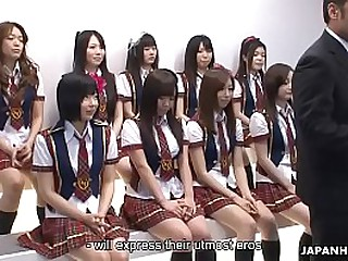 Japanese schoolgirls accomplish some unsatisfactory stuff via transmitted to idol competition