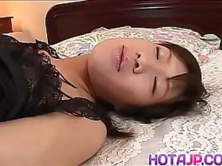 Hot japan girl Rico Kurusu split-second when guy friction her vagina