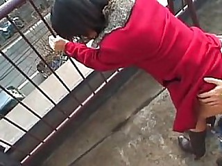 Lovely Japanese babe sucks a eternal dick into public notice