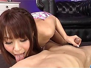 Maika plays with pussy in unassisted before sucking a big dick