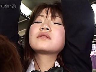 41Ticket - Yayoi Yoshino Stopped up in Motor coach Gangbang (Uncensored JAV)