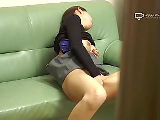 Japanese MILF Miku Fucks Herself On Embed (Uncensored)