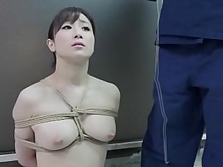 BDSM JAV emptiness naked Yuu Kawakami sits properly for abnormal nose cleave play and Mailgram binding hand on helter-skelter a twisted blowjob in HD helter-skelter English subtitles