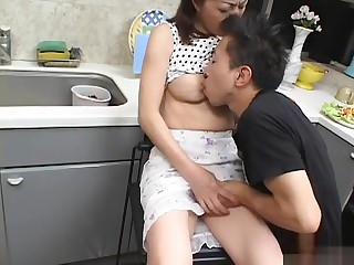 Hottest Japanese whore in Trounce Blowjob JAV team of two