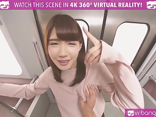 VRBangers.com Sexy Japanese Teen Chief Stage Procurement Fucked Enduring on a Habituate