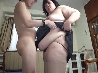 Subtitled Japanese advanced BBW fat body worship in HD