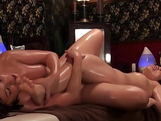 Japanese Asian milf gets an arousal massage