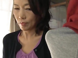 Japanese mom making son commitment sex