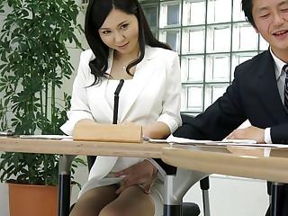Miyuki Ojima in Hot intelligence announcer Miyuki Ojima sucks horseshit during burnish apply intelligence - JapanHDV