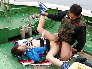 Nonoka Kaede in Nonoka Kaede is fucked on a speedboat chips fishing struggle - JapanHDV