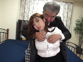 Japanese Girl fucked away from an elder statesman man - Hair Fetish - Cum heavens Hair