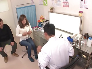 Hidden camera about a Gyno office with reference to a beautiful, HORNY young Japanese girl!