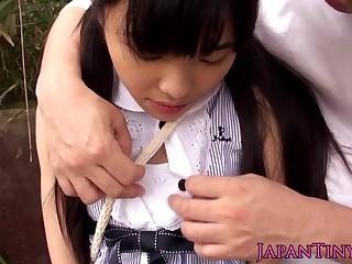Petite japanese teen grinding cock in default