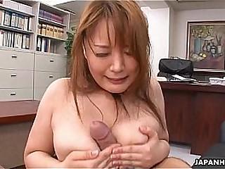 Hinata Komine getting initiated to the office ways