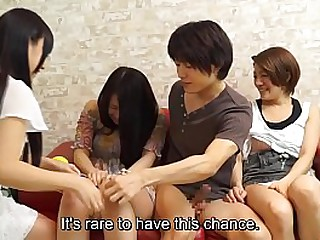 Japanese amateurs having group sex line with Subtitles