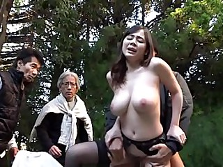 Sophistry Japanese wed in garter belt and nothing in another manner has brazen outdoor sex in a non-private while passersby watch starring pale and busty JAV star Aimi Yoshikawa in HD with English subtitles