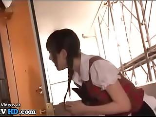 Japanese 18yo idol meets older fan at his abode