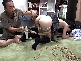 Little short of Legal Tiny Japanese Teen Tied, Abused & Fucked Apart from Dexterous