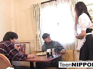 Japanese teen sucks horseshit