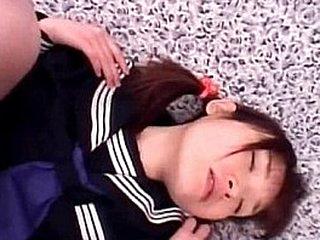 Little jap sweetheart handsome hard pounding adjacent to school uniform